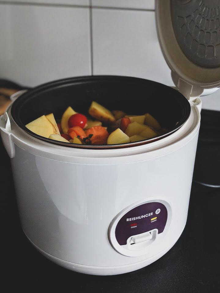 Reisundheiß reiskocher rezept vegan einfach easy reis kochen curry (3)