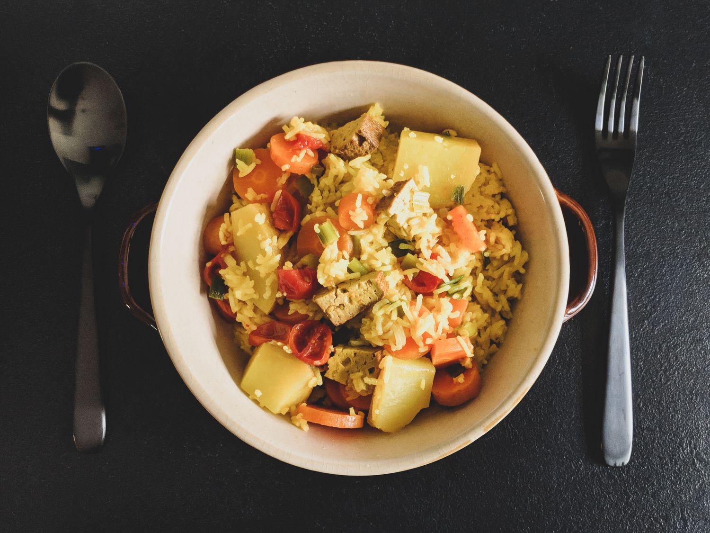Reisundheiß reiskocher rezept vegan einfach easy reis kochen curry (4)